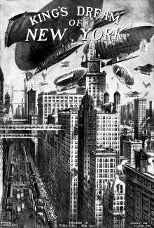 Illustration by Harry M. Pettit from Moses King's guidebook <i>Views of New York</i>, 1908
