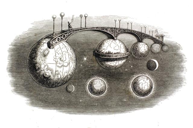 JJ Grandville - The Bridge of Infinities (from Un Autre Monde) (1844)