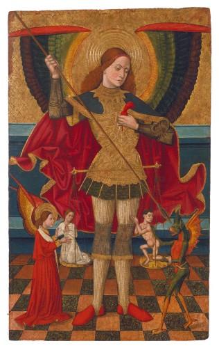 Juan de la Abadía (the Elder) - Saint Michael Weighing Souls (c. 1480-1495)