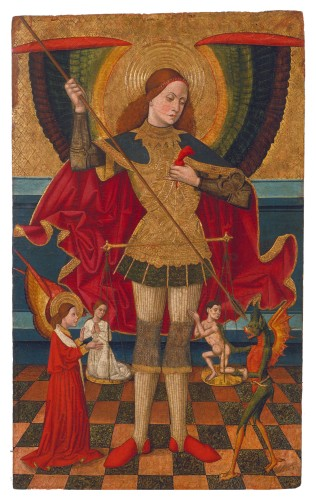 Juan de la Abadía (the Elder) - Saint Michael Weighing Souls (c. 1480-1495)
