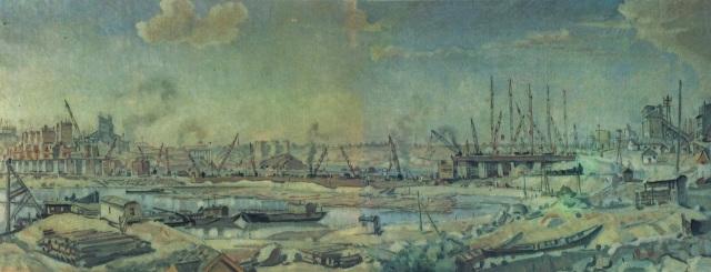 Konstantin Bogaevsky - Industrial Landscape (c. 1930)