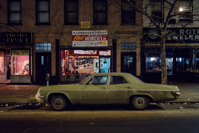 Langdon Clay - Charlie Robert_s campaign car, Chevrolet Bel Air, Hoboken, NJ, 1976