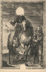 Pierre Lombart - Headless Horseman (1655)]