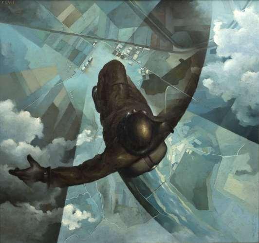 Tullio Crali - Before the Parachute Opens (1939)