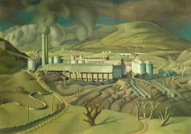 Allen, Harry Epworth, 1894-1958; Industrial Landscape, Hope Valley, Derbyshire