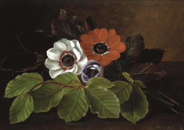 Johan Laurentz Jensen (1800-1856) - Still Life of Anemones