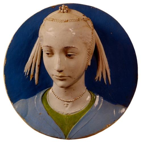 Luca della Robbia - Portrait of a Young Lady (1463)