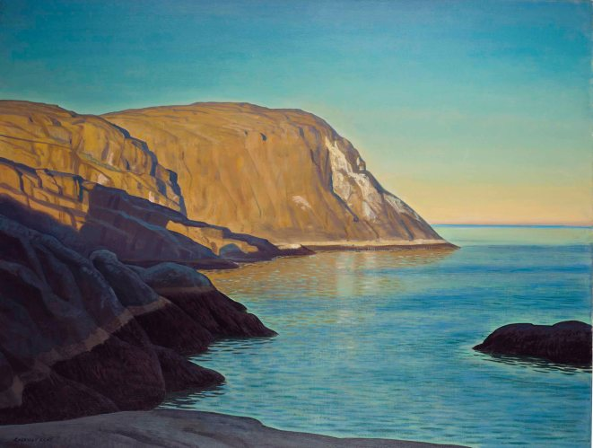 Rockwell Kent - Maine Headland, Evening (c. 1950)