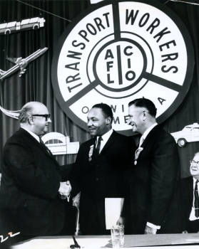 TWU President Mike Quill and MLK (1961)