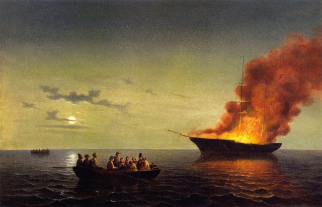 William Ruthven Wheeler - Great Lakes Marine Disaster (c. 1860)