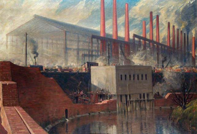 Holmes, Charles John, 1868-1936; A Two-Year-Old Steel Works: Erected during the War for Messrs. Steel, Peech & Tozer, Ltd, Phoenix Works, Rotherham