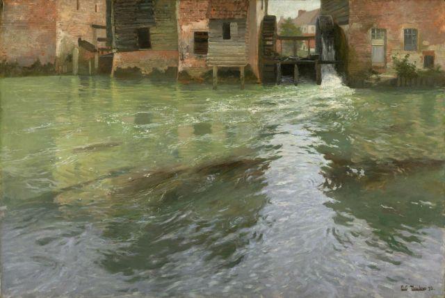 Fritz Thaulow - Water Mill (1892)