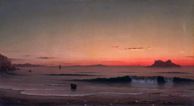 Martin Johnson Heade - Twilight, Singing Beach (1863)