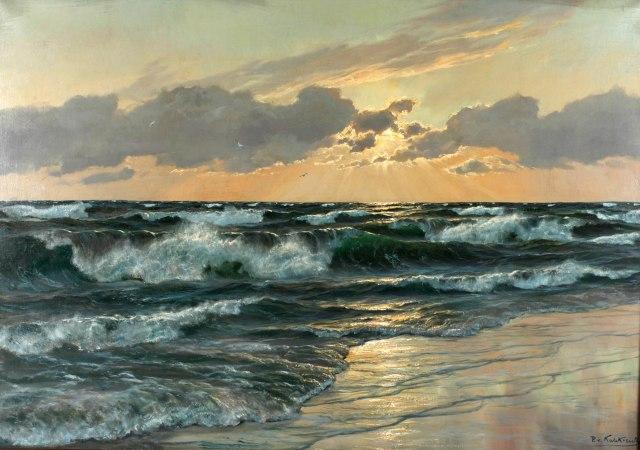 Patrick von Kalckreuth - Seascape at Sunset (c. 1950)