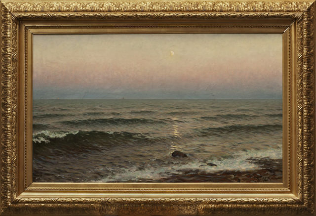 Wilhelm Jaensson - Evening by the Shore. Motif from Oxelösund (1897)