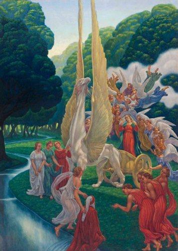 Amos Nattini - Divina Commedia, Purgatorio Canto XXXI (1936)