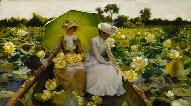 Charles Courtney Curran - Lotus Lilies (1888)