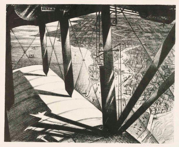 Christopher Richard Wynne Nevinson - From a Paris Plane (1929)