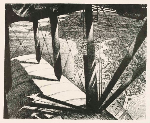 Christopher Richard Wynne Nevinson - From a Paris Plane (1929)