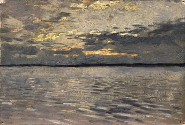 Isaak Levitan - The Lake, Eventide (1899)
