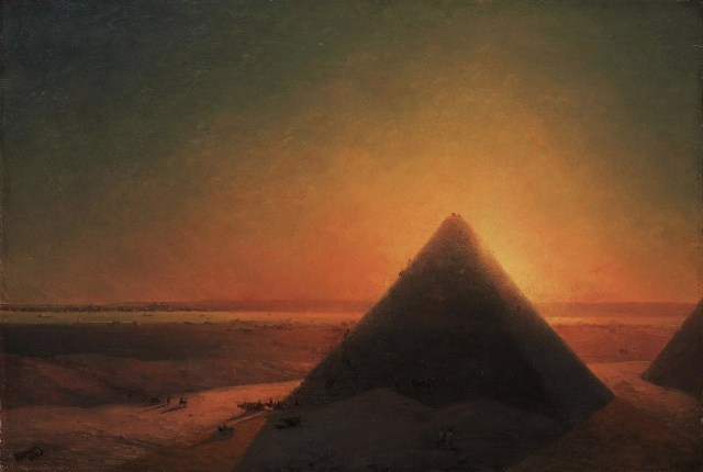Ivan Aivazovsky - The Great Pyramid of Giza (1878)