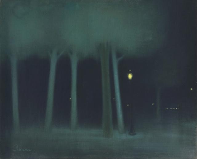 Jozsef Rippl-Ronaï - Un parc la nuit (1895)