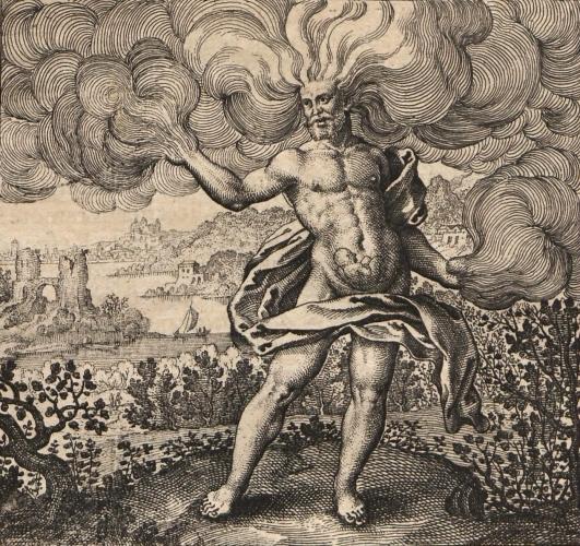 Matthias Merian - Boreas - Atalanta Fugiens (1616) - detail