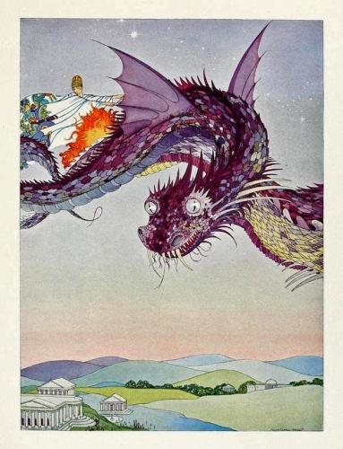 Virginia Frances Sterrett - Illustration for Tanglewood Tales (1921)
