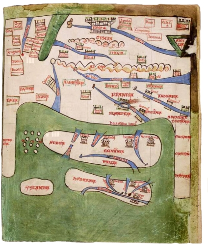 Gerald of Wales - Mappa Mundi - Topographia Hibernica (1188)