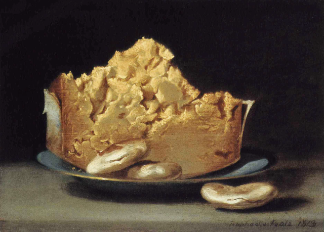 Raphaelle Peale - Cheese and Three Crackers (1813)