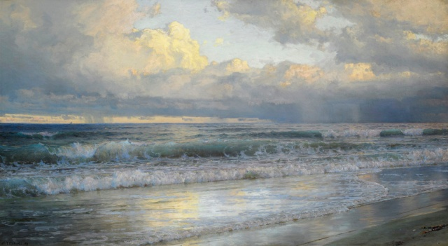 William Trost Richards - On the New Jersey Shore (1897)