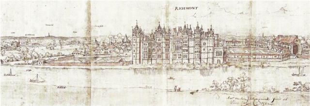 Anton van den Wyngaerde - Richmond Palace (c.1558-62)