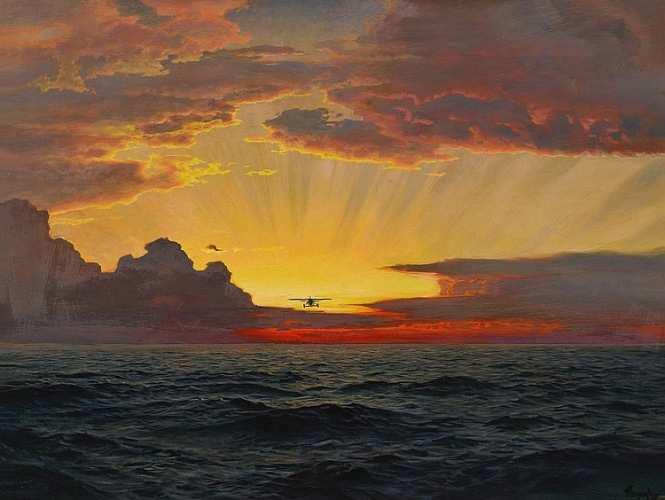 Frederick Judd Waugh - A Dawn Flight