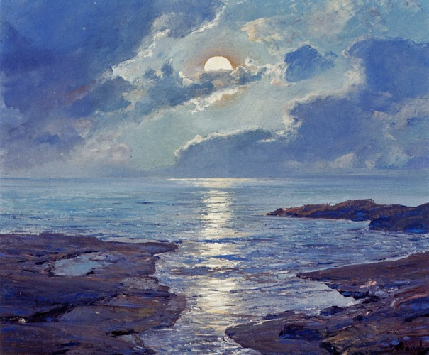 Frederick Judd Waugh - The Risen Moon (1926)