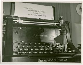 Giant Underwood Typewriter at New York World's Fair (1940)