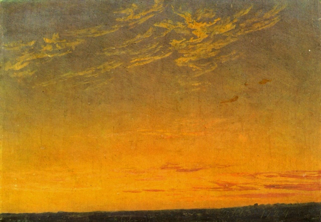Caspar David Friedrich - Evening with Clouds (1824)