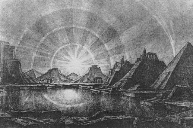 Konstantin Bogaevsky - Landscape with Lake (1922)