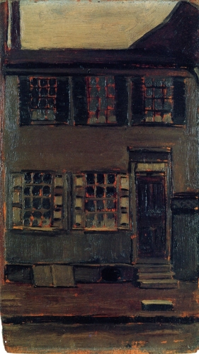 Marsden Hartley - Walt Whitman's House, 328 Mickle Street, Camden, New Jersey (circa 1905)