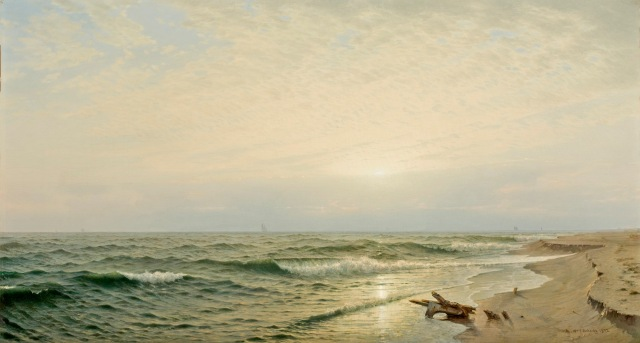 William Trost Richards - Beach at Long Branch, Sunrise (1872)
