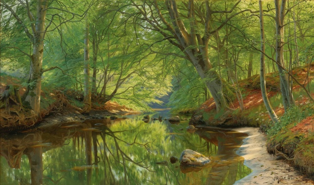 Peder Mørk Mønsted - Forest Stream (1896)