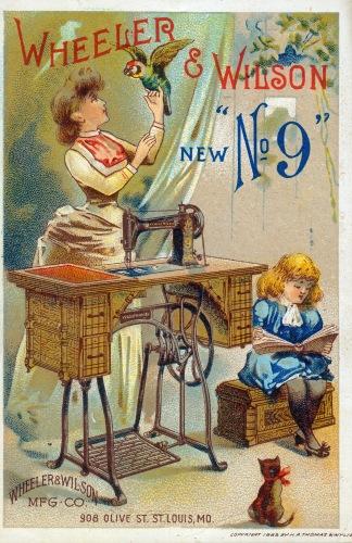 Wheeler and Wilson Advertising Card (1888)