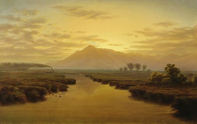 William Marple - Mount Tamalpais from Napa Slough (1869)