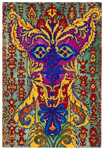Louis Wain - A cat standing on its hind legs, formed by patterns supposed to be in the -Early Greek- style (1925-1939).