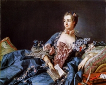 François Boucher - Portrait of Madame de Pompadour (c. 1750-1758)