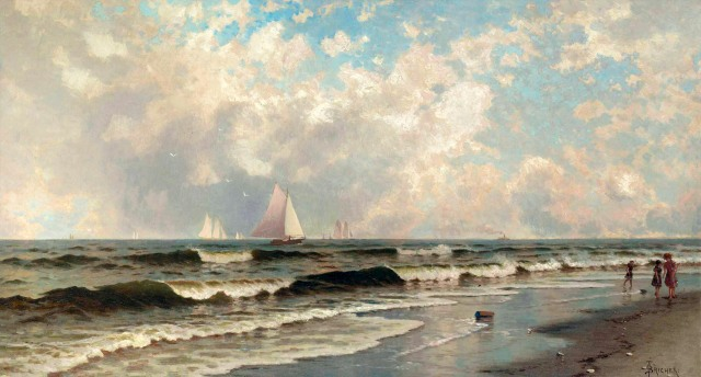 Alfred Thompson Bricher - Afternoon, Southampton Beach