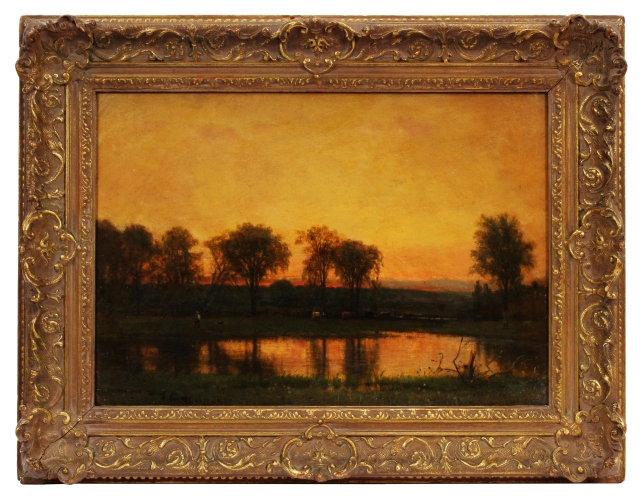 George Inness - Autumn Landscape with Cattle