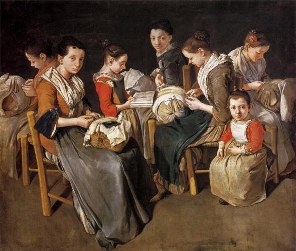 Giacomo Ceruti - Women Working on Pillow Lace (c. 1720)
