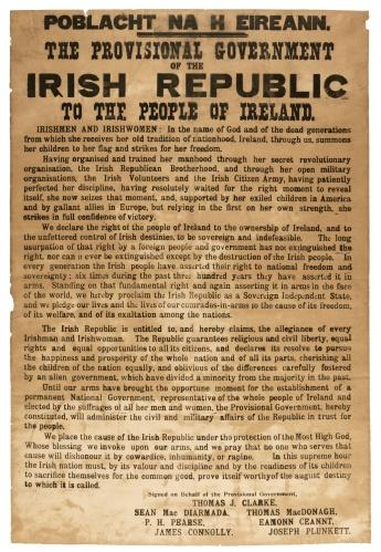 Poblacht na hÉireann - 23 April 1916