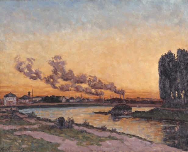 Armand Guillaumin - Soleil couchant à Ivry (1873)