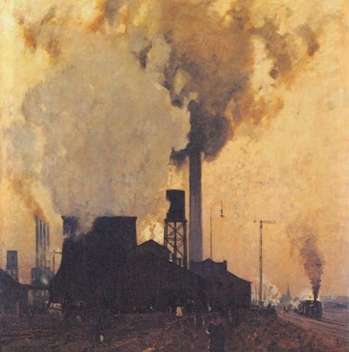 Eugen Bracht - Eisen und Stahlwerk Hoesch, Dortmund 1907